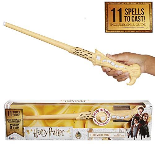 HARRY POTTER 39837 Voldemort's magischer Zauberstab mit Funktion, 38 cm, weiß (Voldemort Zauberstab)