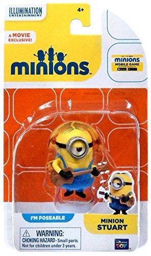 Minions Figur Stuart mit Gitarre - PM Poseable - Aus dem Minions (Kevin Der Minion Kostüm)