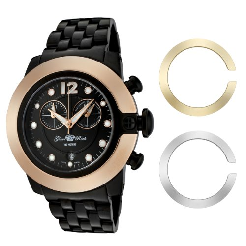 Glam Rock Women's GR32183 SoBe Chronograph Black Dial Black Ion-Plated Stainless Steel Watch