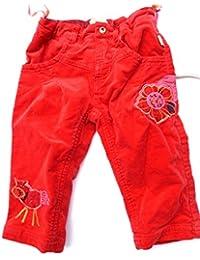 Pezzo doro Baby Mädchen Hose, rot samtig gefüttert M31001 gr.74