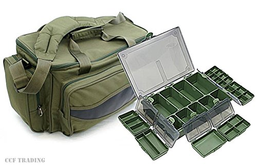 CARP-FISHING-HOLDALL-TACKLE-BAG-TACKLE-BOX-STORAGE-SYSTEM-LUGGAGE-COMBO