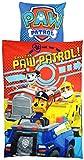 Paw Patrol 0121990 Microfaser-Bettwäsche, Polyester, blau, 135/200, 37,5 x 27 x 4 cm
