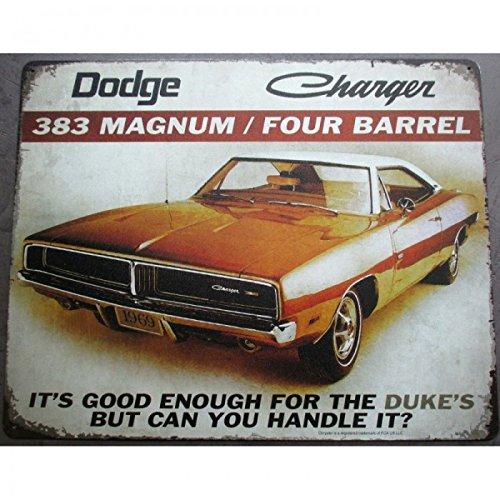 hotrodspirit-plaque-dodge-charger-383-magnum-marron-tole-pub-garage