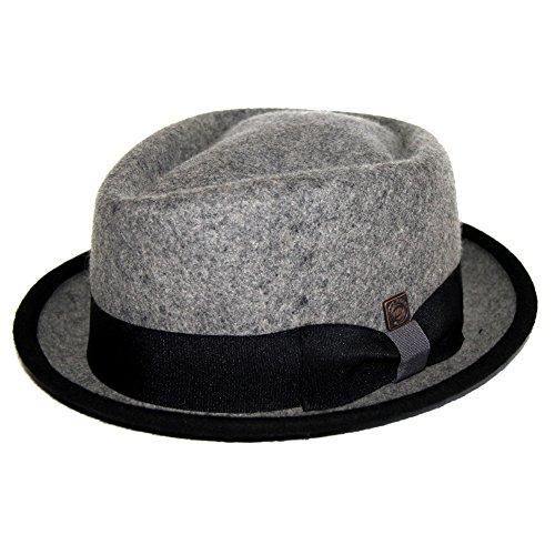 Dasmarca Jacson Couverture Melange Feutre Crown Diamond Porkpie Hat - XL