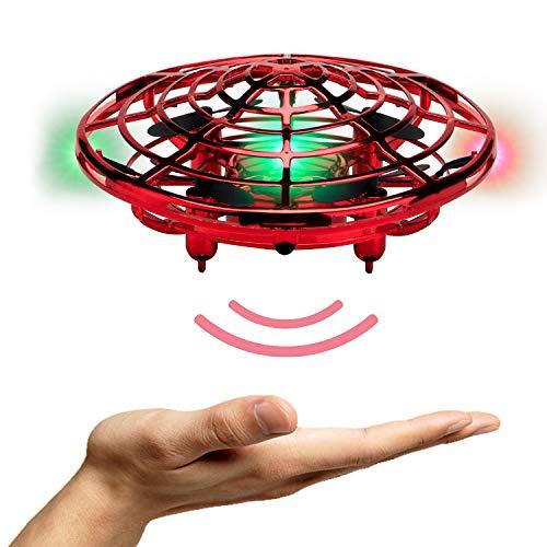MaxTronic Juguetes Voladores, Recargable Flying Juguetes Flying Ball, Drone Principiantes HelicóPtero Bola de Vuelo Built-in Shinning Iluminación 360 ° LED para Niños, 5-12 años de Edad