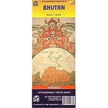 Carte routière : Bhoutan - Bhutan (en anglais)