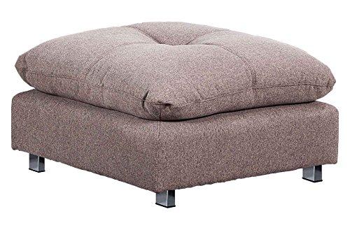 Puf sofá cama sistema clic clac modelo DURBAN tejido Elegance color Moka - Sedutahome