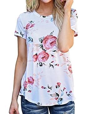 zolimx Las mujeres Fasgion larga camisa camisa blusa Casual algodón flojo Top T