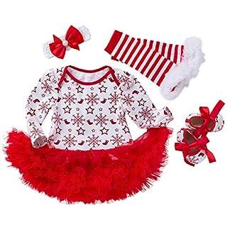 Yesmile Navidad Conjuntos para Bebes Fiesta Vestido Bebe Niña Disfraz Papá Noel Imprimir Vestidos Niña Invierno Ropa Manga Larga Princesa Vestidos