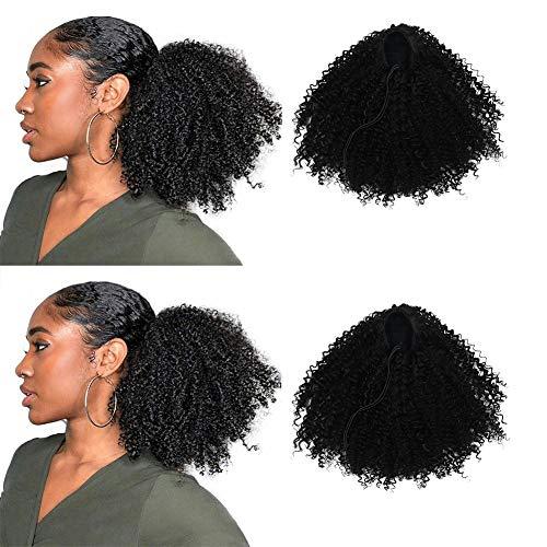 Extension afro sintetiche code di cavallo ricciole ideali per afroamericani extension per capelli ricci afro con chiusura superiore dotata di