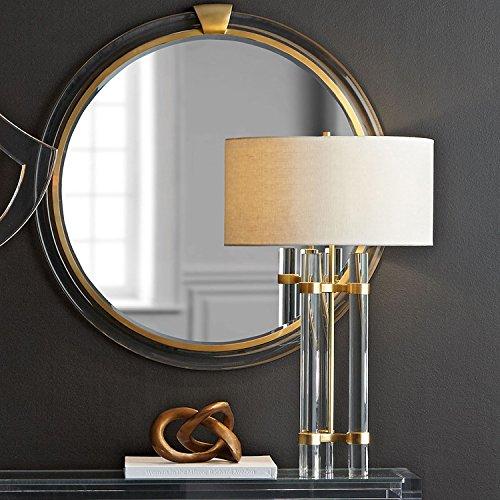 BBSLT Semplice e moderno pilastro di cristallo lampada da tavolo di alta qualità le colonne di cristallo di decorare la stanza vivente lampada da tavolo