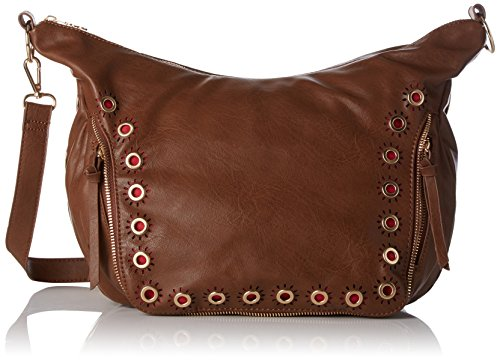 Desigual Bols_somalia Janis, 6091, U - Donna, Marrone (Leather Brown), 12x24.5x22 cm (b x h t)
