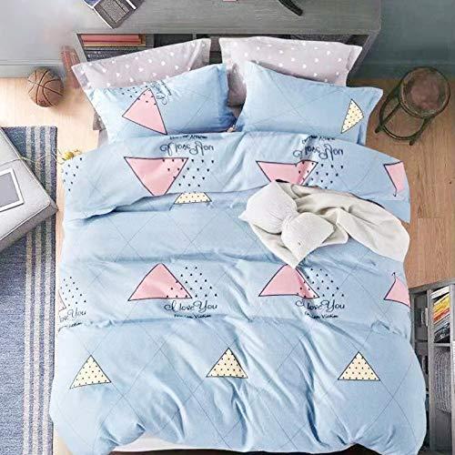 Unbekannt Neue verdickte gebürstetem Bettbezug vierteilige Bettwäsche Studenten liefert dreiteilige vierteilige1,2 m dreiteiliges Set