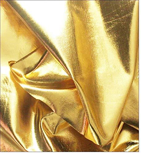 eventkauf Lycra Stoff Meterware am Stück (Gold) - Lycra Für Nähmaschine