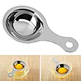 TOOGOO separatore di tuorlo d'uovo in acciaio inox Sieve separatore dell'uovo dispositivo Bianco Mini pentole (13x7x2.8cm)