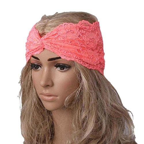 Transer Breites Haar- und Stirnband, Vintage-Look, Haarmode für Damen, modisches Haaraccessoire, Wickeltuch, Turban, als Schal und für sportliche Aktivitäten geeignet Einheitsgröße wassermelone