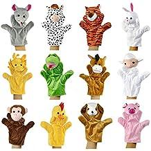 Yidarton Lot de 12 Marionnettes à Doigt Drôles Animaux Poupées Jouets pour Enfants Fille Garçon Bébé