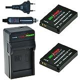 ChiliPower Samsung SLB-10A, SBL-10A Kit: 2x Batterie (1050mAh) + Chargeur pour Samsung ES50, ES55, ES60, EX2F, HMX-U10, HMX-U20, HZ10W, HZ15W, IT100, L100, L110, L200, L210, L310W, M100, M110, M310W, NV9, P800, P1000, PL50, PL51, PL55, PL60, PL65, PL70, SL102, SL202, SL310, SL420, SL502, SL620, SL720, SL820, TL9, WB150F, WB250F, WB350F, WB500, WB550, WB750, WB800F, WB850F, WB1100F, WB2100