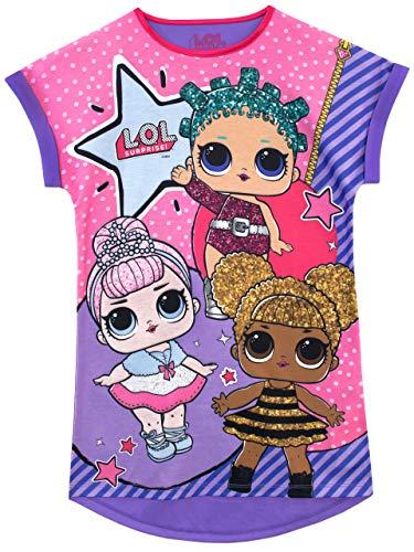 LOL Surprise! Camicia da Notte delle Ragazze Bambole Viola 5 6 Anni