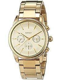 DKNY Damen-Armbanduhr Rockaway Chronograph Quarz Edelstahl beschichtet NY2330
