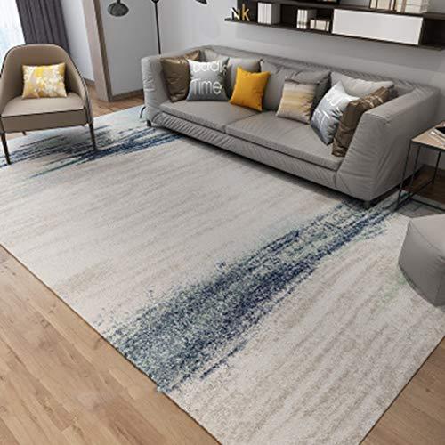CJW Moderner bedruckter Teppich Schlafzimmer Nachttisch Wohnzimmer Teppich Matte Ins Windlicht Einfach Nordic American (Color : E, Größe : 2.6'X5.2') (Nachttisch Traditionellen)