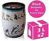 x2 Cubi Bib Art - Le Benjamin de Puech Haut - Rosé - 2x3l - IGP Languedoc Roussillon