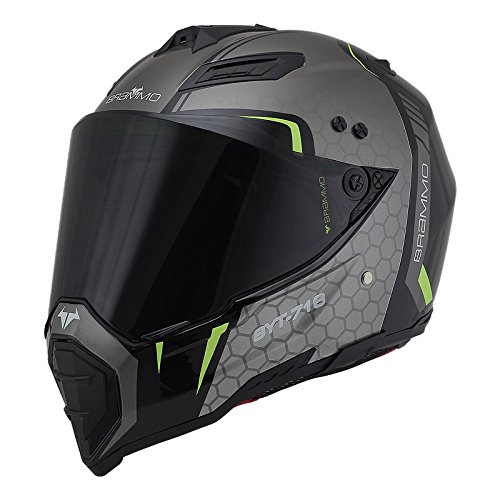 Casco Off-road Da Uomo Casco Da Uomo Locomotive Rally Casco Integrale Casco Integrale Casco Four Seasons Highway,A-M=57-58cm