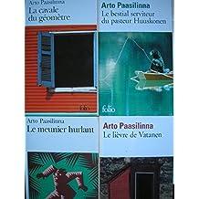 arto paasilinna - lot 4 livres : la cavale du géometre - le meunier hurlant - le bestial serviteur du pasteur huuskonen - le lievre de vatanen