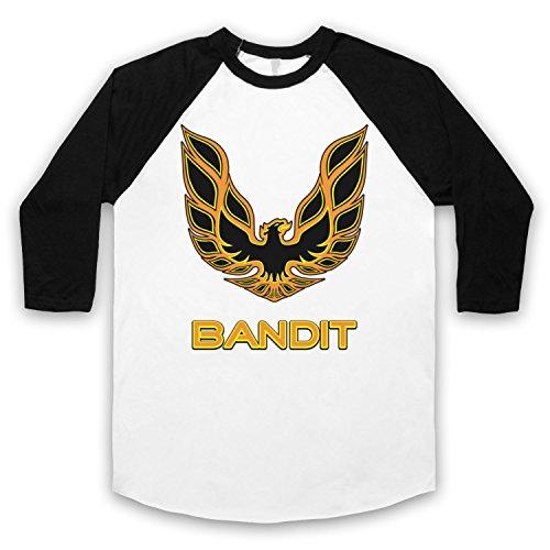Inspiriert durch Smokey & The Bandit Eagle Unofficial 3/4 Hulse Retro Baseball T-Shirt Weis & Schwarz