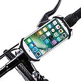 ASCHOEN Handyhalterung für Smartphones - für alle Fahrrad Lenkstangen - Langlebiges Rutschfestes Silikon - Universal Befestigung für 99 % aller Smartphones - Sicher & Flexibel Schwarz