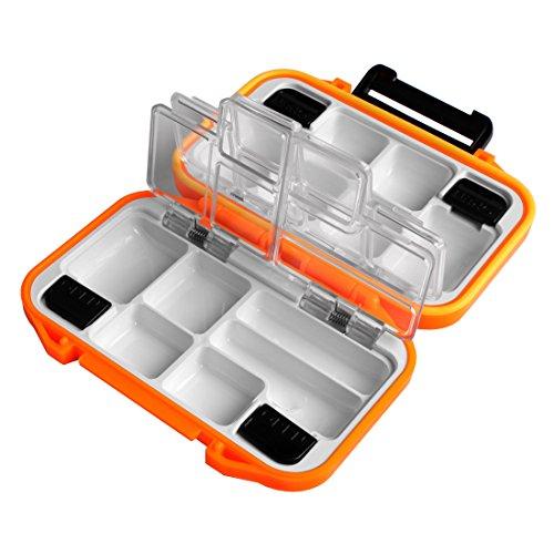 Preisvergleich Produktbild Andux Fly Fishing Wasserdicht Fliegenbox doppelseitige Kleine Plastic FDH-08 orange