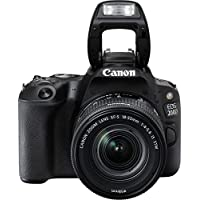 Canon EOS 200D 24.2MP Digital SLR Camera + EF-S 18-55mm f4 IS STM Lens, Free Camera case and 16GB card inside