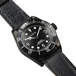 41MM corgeut Automatische Bewegung Herren-Armbanduhr Saphirglas schwarz Zifferblatt