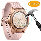 CAVN Samsung Galaxy Watch 42mm Schutzfolie Panzerglas, [4 Stück] Wasserdichtes gehärtetes Glas Displayschutzfolie für Samsung Galaxy Watch [High Sensitivity] [HD Clear] [Anti-Scratch] [Anti-Bubble]