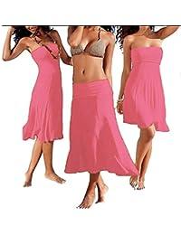 SODACODA figurbetonendes trägerloses Strandkleid oder Rock 4 Stile in einem