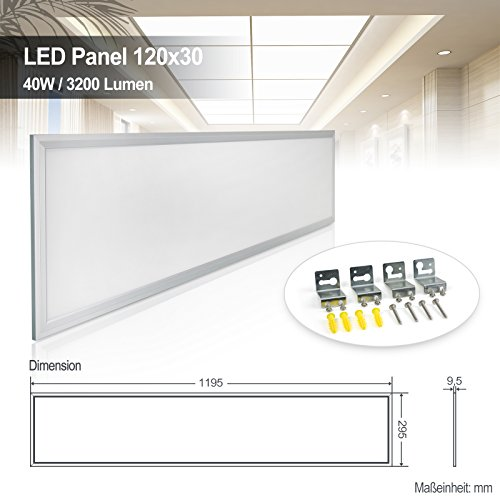 LED Panel 120x30 Neutralweiss 4000K Ultraslim 40W LED ...