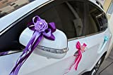 #9: Generic 8 : Wedding Car Decoration Wedding Flower 8 Colors Car Door Handles and Rearview Mirror Decoration Free Shipping