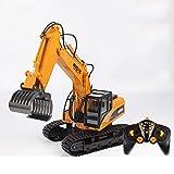XUEQIN Fern-Exkavator Spielzeug-Ladung Legierung Bagger Elektrische Haken Maschine Hydraulische Modell Automatische Fernbedienung ( Farbe : Grasping wood machine )