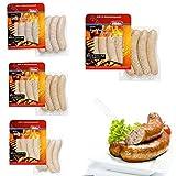 """Grillbratwurst / Grillwurst Set - Lactose- und Glutenfreie 16 Bratwürste - 1,440 kg von Dieter Hein Bratwurst """"Hein-Haxen-Griller"""" """"Würziger Feuerbeißer"""" """"Geflügelbratwurst"""" """"Schlesische Rostbratwurst"""" (Grillbratwurst Paket 1)"""