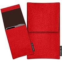SIMON PIKE Apple Iphone X Filztasche Case Hülle 'Sidney' in rot 2, passgenau maßgefertigte Filz Schutzhülle aus echtem Natur Wollfilz, dünne Tasche im schlanken Slim Fit Design für das Iphone X