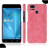 ZenFone 4 Selfie ZD553KL Crocodilian Case, Amazing Vivid Alligator Scales Newest Style Thin Cover, WEIFA Popular Gorgeous Design Light Slim Hard Case For ASUS ZenFone 4 Selfie ZD553KL Pink
