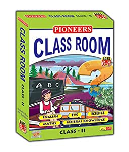 PIONEERS CLASS ROOM- CLASS 2 English EVS Science Maths GK CD (Pack of 5) Universal Syllabus