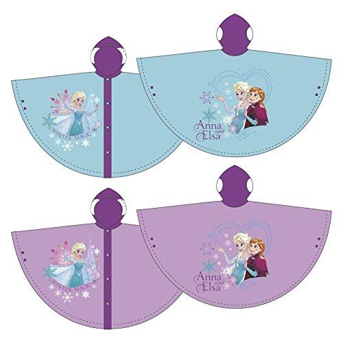 Familie24 Die Eiskönigin Regenponcho AUSWAHL Poncho Kinderponcho Regenjacke Regenmantel Kinderregenjacke Frozen Anna Elsa Olaf WD9783 (4 Jahre, Türkis)
