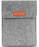 MoKo Sleeve Bag for Kindle Paperwhite / Kindle Voyage, Protective Felt Cover Pouch for Amazon Kindle Paperwhite / Voyage / Kindle(8th Generation, 2016) / 6 inch Kindle Oasis E-Reader, Light Grey