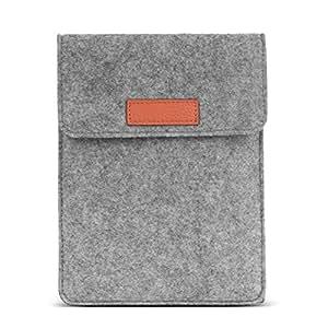 "MoKo Felt Sleeve Bag for Kindle Paperwhite / Kindle Voyage, Portable Carrying Protective Case Cover Pouch, Fits for Amazon Kindle Paperwhite / Voyage 6"" / Fire HD 6 / Kindle Oasis E-Book, Light GRAY"