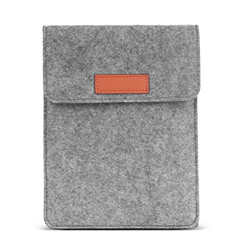 MoKo Kindle Paperwhite / Kindle Oasis / Kindle Voyage Felt Sleeve Hülle - Tragbare Filz Schutzhülle Tasche für Amazon Kindle Paperwhite / Voyage / 6 Zoll Kindle Oasis / Kindle 7. / HD 6 6 Zoll, Hellgrau (Kindle Fire Tablet Tasche 6 Zoll)
