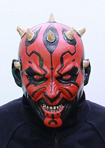 Star Wars Maske (kompletter Kopf) Kostüm - Fasching Party Karneval (Darth (Darth Maul Kostüme Maske)