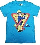 Feuerwehrmann Sam Jungen T-Shirt (110, Hellblau)