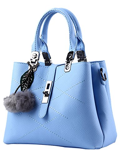5aa5169e5408c Menschwear Damen Handtasche Marken Handtaschen Elegant Taschen Shopper  Reissverschluss Frauen Handtaschen Schwarz Sky-Blau