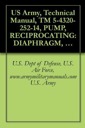 US Army, Technical Manual, TM 5-4320-252-14, PUMP, RECIPROCATING: DIAPHRAGM, 100 GPM, LESS MIL STD ENGINE, (R CHAINBELT MODEL 4DG), (NSN 4320-00-063-7363), ... manauals, special forces (English Edition)
